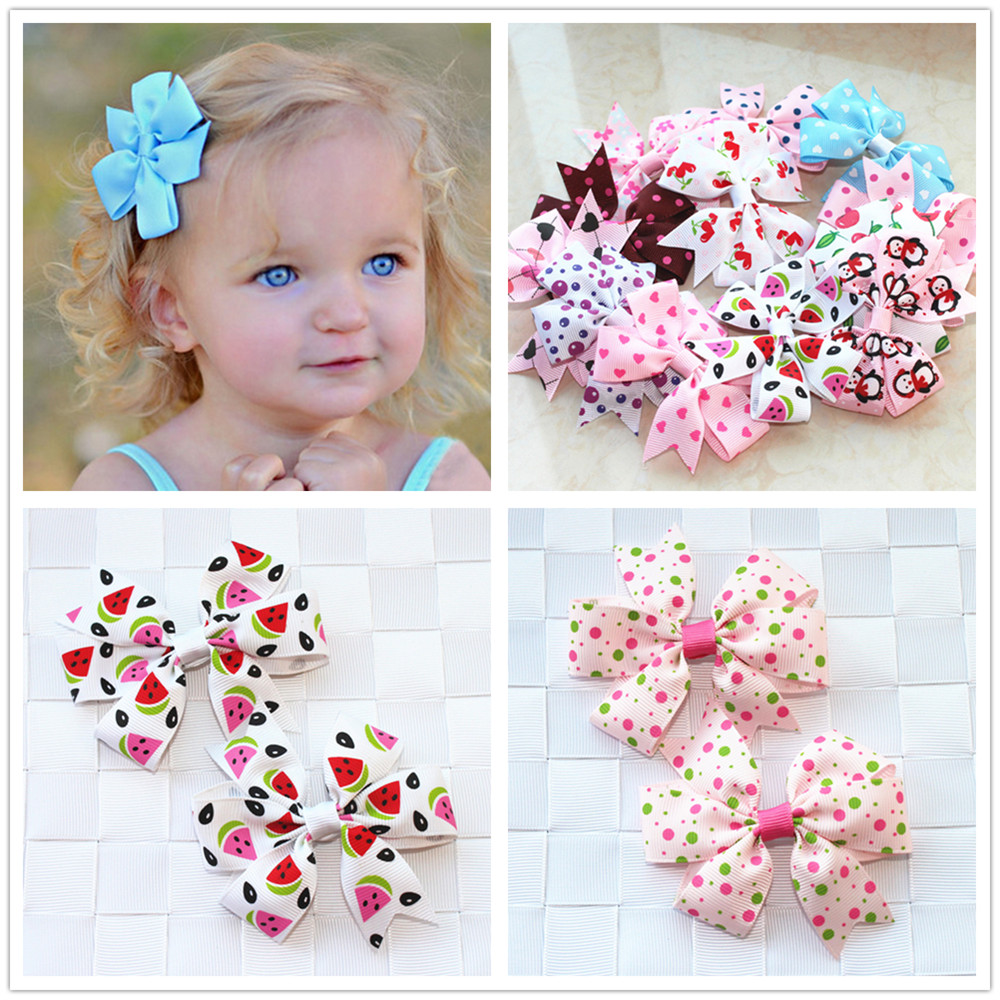 2pcs/lot baby girl hair bow flower children accessory baby barrettes hair accessories kids hairpins boutique hair clips headwear 10pcs lot small flower baby kids hair