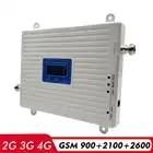 2G 3G 4G Netwerk Tri Band Booster GSM 900 + WCDMA/UMTS 2100 + FDD LTE 2600MHz Mobiele Telefoon Repeater 900 2100 2600 Signaal Versterker Kit - 2