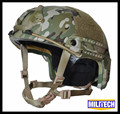 M/LG Multicam Camo Deluxe NIJ level IIIA FAST Bulletproof Kevlar Helmet With HP White Ballistic Test Report and 5 Years Warranty