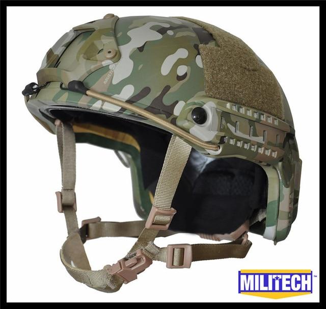 M/LG Multicam Camo Deluxe NIJ level IIIA FAST Bulletproof Kevlar Helmet With HP White Ballistic Test Report and 5 Years Warranty