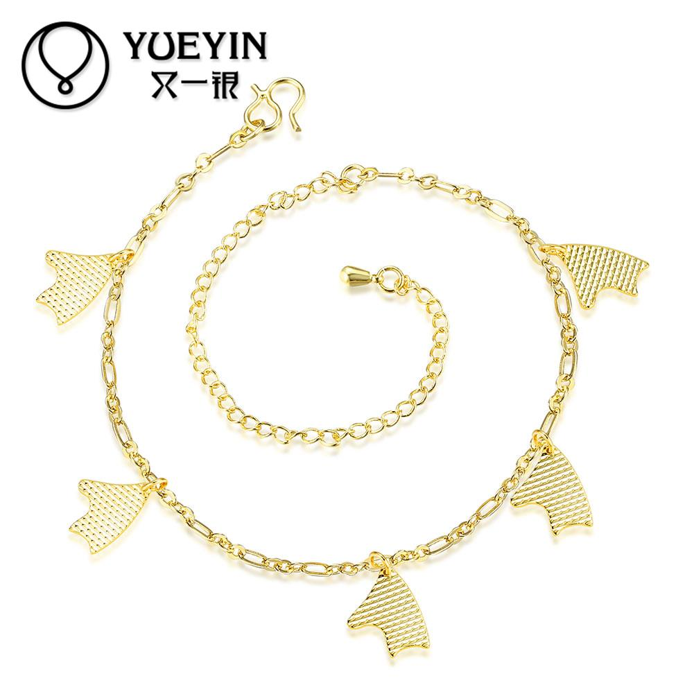 2016 New Charm Anklets For Women Fashion Foot Jewelry Gold Ankle Chain Bracelet