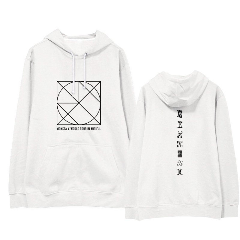 Monsta x combination BE BEAUTIFUL concert with hooded casual shirt men and women A and hoodie.