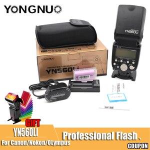 Image 2 - Yongnuo YN560Li 2.4G רדיו מהבהב מרחק עד 100 מטרים אוניברסליים למעלה חם נעל פלאש עבור Canon ניקון אולימפוס ליתיום פלאש