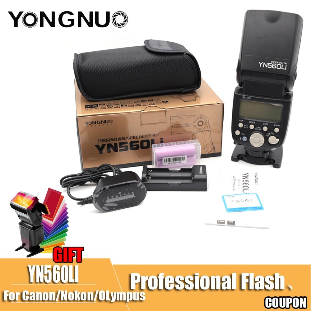 Yongnuo YN560Li 2.4G radio flashing distance up to 100 meters universal top hot shoe flash for Canon Nikon Olympus lithium flash
