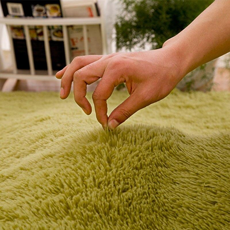 Tapis Shaggy doux pour salon maison européenne chaud tapis de sol en peluche tapis moelleux chambre d'enfants fausse fourrure tapis de salon - 4