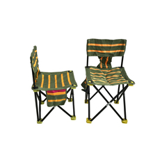 K8356 High Quality Portable Floding Fishing Chair 600D Fabric Outdoor Beach Camping Chair Green With Yellow 4 Sizes For Choosen
