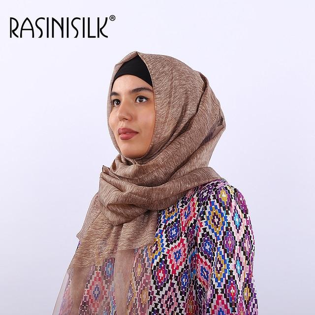 RASINISILK Nouveau polyester dentelle écharpe 98*192 cm longue mode  Musulman foulard Islamique Tête Usure