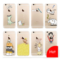 Supology For iphone 7 7 Plus Case Cover TPU Transparent Cartoon Protective Phone Back Bag Cases Coque Cover for iphone 6 s Case