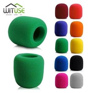 1PC Microphone Foam Thicken Mic Cover Sponge Professional Studio WindScreen Protective Grill Shield Soft Microphone Cap(China)