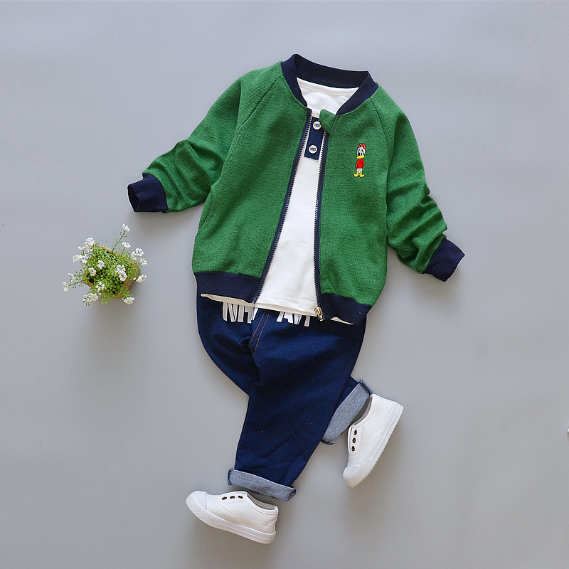 Children Clothing Sets Boy Autumn 3 Piece Girls Clothes Sets Coat Sport Suit Boys Clothes Sets Cartoon Cotton Clothes for Girls autumn winter girls children sets clothing long sleeve o neck pullover cartoon dog sweater short pant suit sets for cute girls