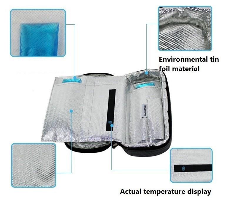 2016 Portable Insulin Cooler Bag Diabetic Insulin Travel Colder Case Cooling Box Bolsa Termica 4-24 degree centigrade display