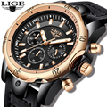2019LIGE новые мужские часы, Топ бренд, Роскошные военные спортивные часы, мужские кожаные водонепроницаемые часы, кварцевые наручные часы, Relogio...
