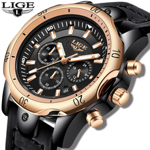 2019LIGE New Mens Watches Top Brand Luxury Military Sport Watch Men Leather Waterproof Clock Quartz Wristwatch Relogio Masculino naviforce men watches top brand luxury sport quartz watch leather strap clock men s waterproof wristwatch relogio masculino 9099