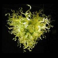 Chinês led murano lustre de vidro lâmpada arte designer murano vidro led lustre moderno