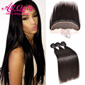7a Malaysian Straight Virgin Hair With Closure 13x4 Ear To Ear Lace Frontal Closure With Bundles Straight Hair With Lace Frontal