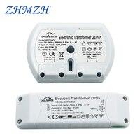 Достаточная мощность электронный трансформатор CE сертификация G4 галогенная лампа 210 Вт балластный контроллер переменного тока 220 В к 12 В пе...