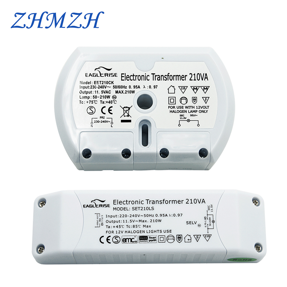 Sufficient Power Electronic Transformer CE Certification G4 Halogen Lamp 210W Ballast Controller AC 220V To AC 12V High Quality