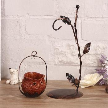 Iron ornaments Home Furnishing romantic Bar Decor gift table style retro candle holder