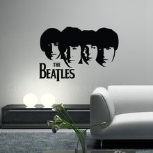 Free Shipping Classic Band The Beatles Removable wall decal ,The Beatles Pattern Rock Music Poster Wall Stickers