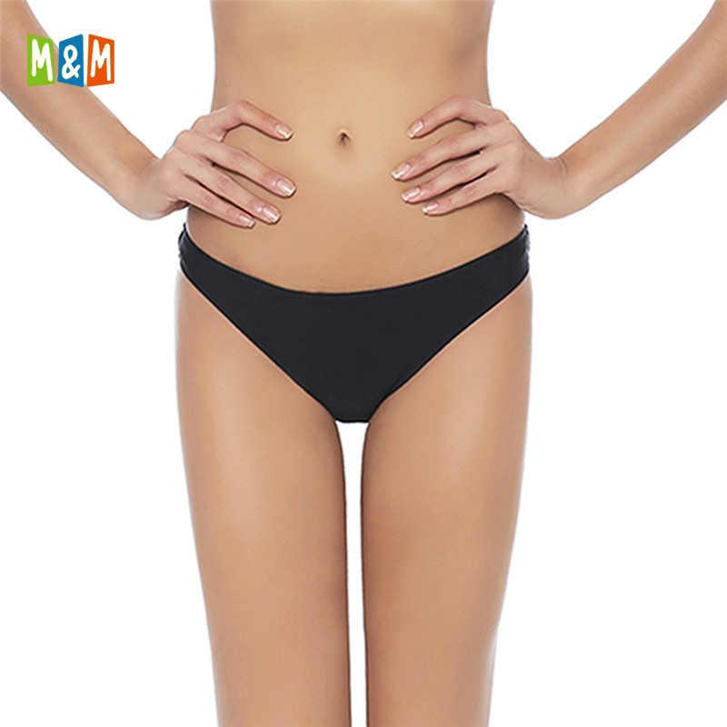 3e800265a1e M&M 2018 Swimwear Women Swim Briefs female Triangle Bikini Thong Bikini  Bottom Two-Piece Separates
