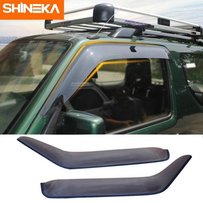 SHINEKA auvents abris pour Suzuki Jimny 2007-2017 résine voiture météo bouclier pare-brise fenêtre visières pour Jimny accessoires
