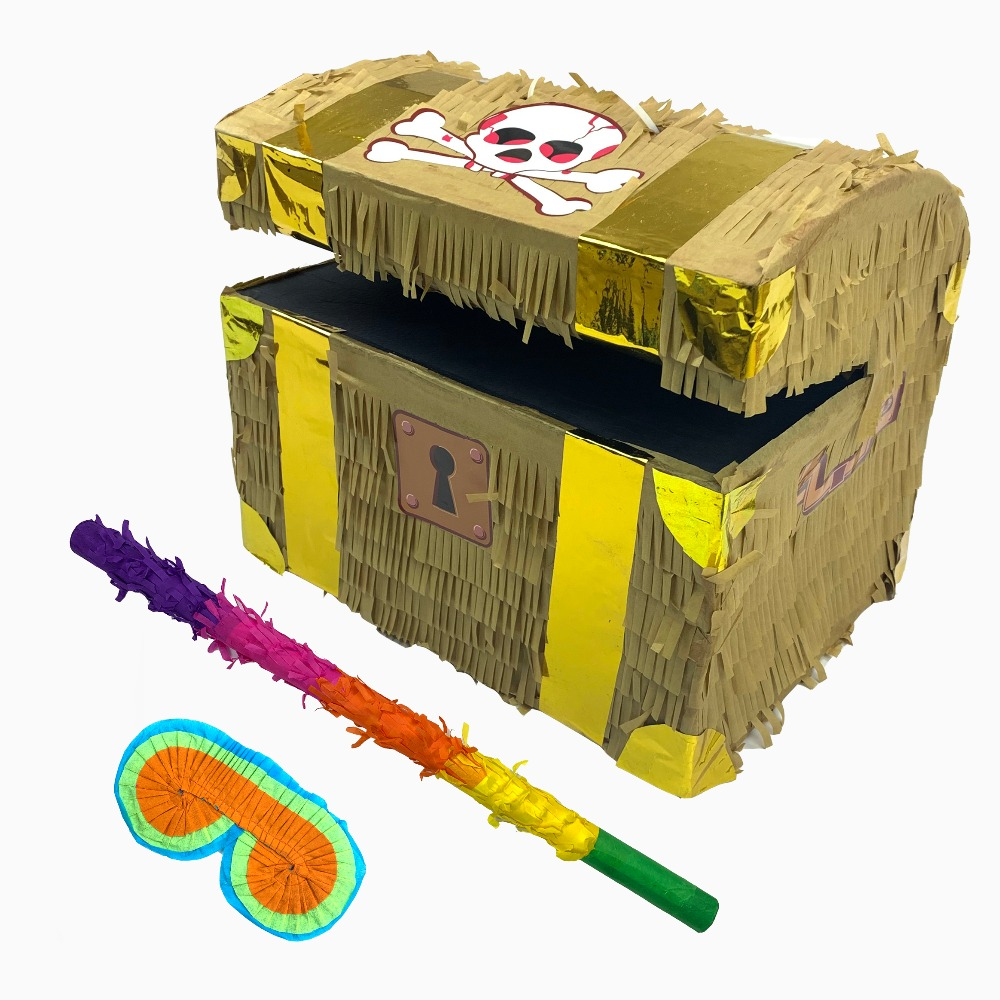 US $14 68 |Pinata fortune box pinata for Birthday Party, Treasure chest  pinata New Year ,Christmas,,Celebrations,Halloween-in Party DIY Decorations