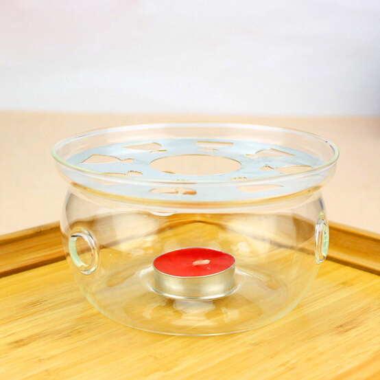 1PC Teapot base manual transparent glass base heating insulation glass warmer tea accessories JN 1027 ...