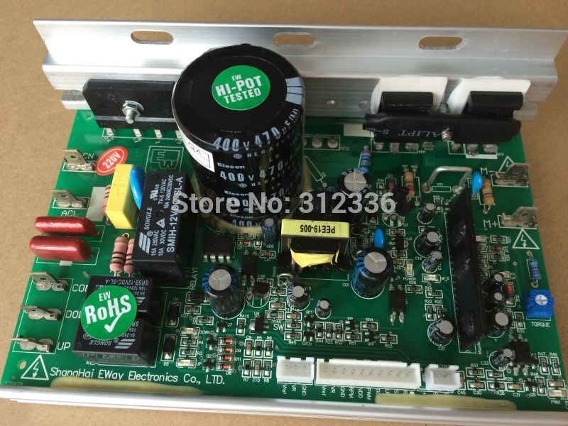 Free Shipping 220V Motor Controller drive plate plate power plate single board computer JOHNSON treadmill control circuit board fast shipping dc motor for treadmill model a17280m046 p n 243340 pn f 215392