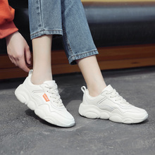 2019 Hot Sale White Sneaker Women Lace Up Bear Pattern Running Life Sports Shoes 41818AZJ2143