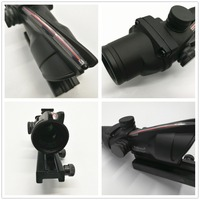 Trijicon ACOG 4x32 Red Fiber Real Fiber Rifle Scope Crosshair Device BDC Red Sight Tactical Hunting