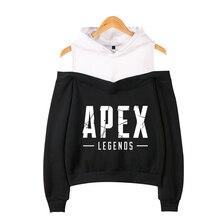 2019 Apex Legends Printed Clothes Off-Shoulder Exclusive Hoodies Sweatshirts Women Album autumn plus size