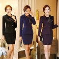 Novelty Slim Fashion Professional Ladies Office Formal Blazers Suits With Jackets And Skirt Female Business Uniforms Outfits