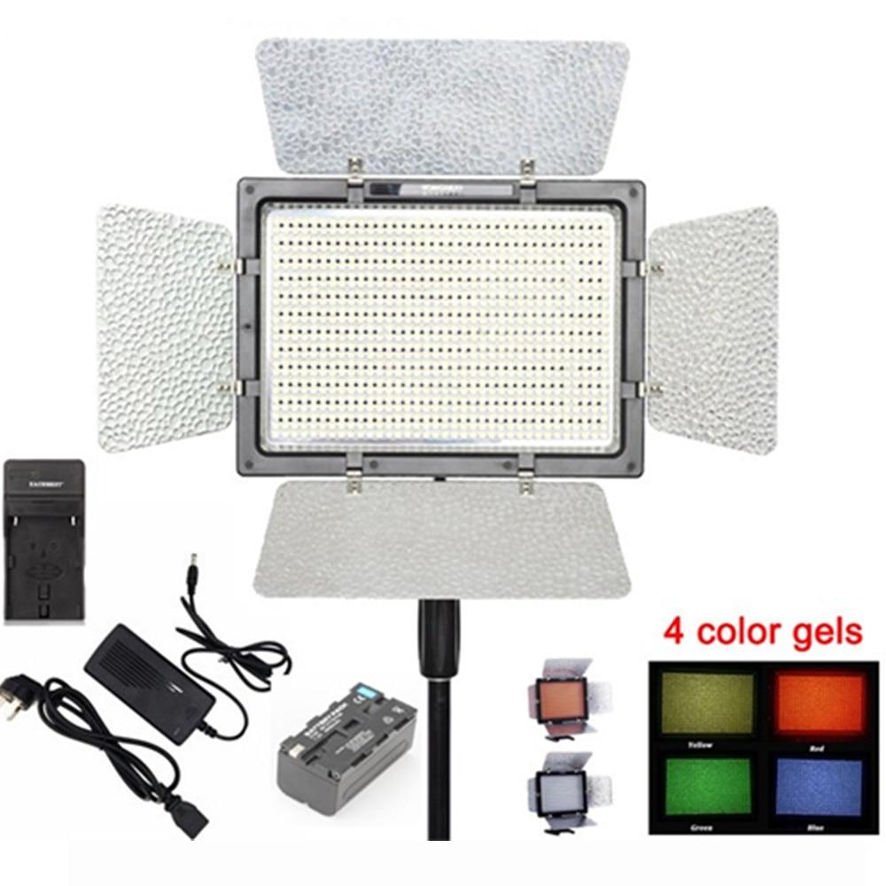 цена на YONGNUO YN900 Pro LED Video Light 5500K Photo Camera Lamp APP Control 900Pcs LED Studio Lighting Photography+Battery+Adapter