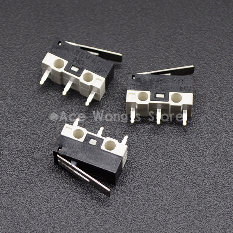 10Pcs Limit Switch Push Button Switch 1A 125V AC Mouse Switch 3Pins Micro Switch safety door switch limit switch micro switch cz 93b 2nc