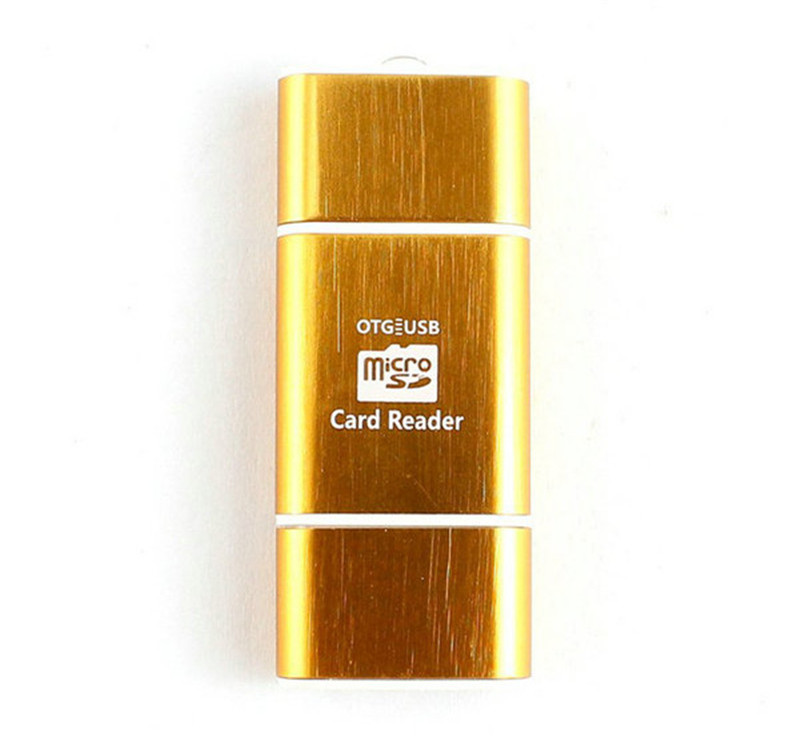 Переносной мини Алюминий Micro USB SD SDXC SDHC TF OTG картридер адаптер Android мобильного телефона и ПК Планшеты двойной применение VV-CA13 ...