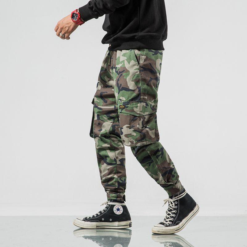 De Hombres Militar Camo Camuflaje Casual Verde Primavera Otoño Pantalones Táctico Algodón v0vqfrw