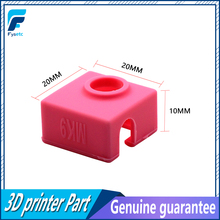 1 PC MK9 Silikon Çorap Isıtıcı Blok Kapak Silikon Yalıtım Için Ender 3 Creality CR-10/10 S/S4 anet Prusa i3 Tronxy MK7/MK8/MK9