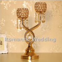 Free Shipment 10PCS Lots 2 Arms Acrylic Candle Holder Centerpiece For Wedding Decorations Event Products Party