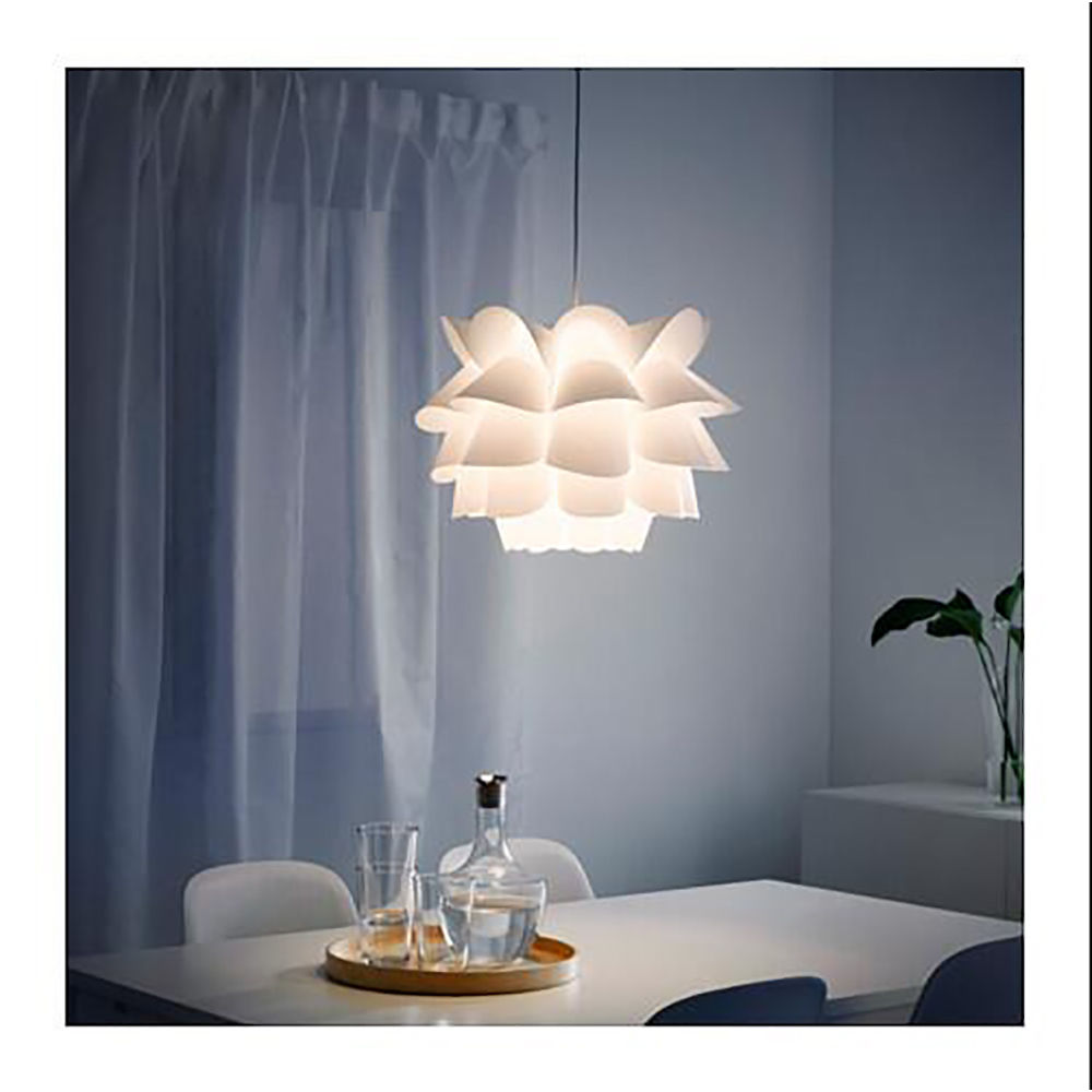 294f7392a09b DIY Lotus Chandelier PP Pendant Lampshade Ceiling Room Decoration Puzzle  Lights Modern Lamp Shade (White)-in Lamp Covers & Shades from Lights &  Lighting on ...