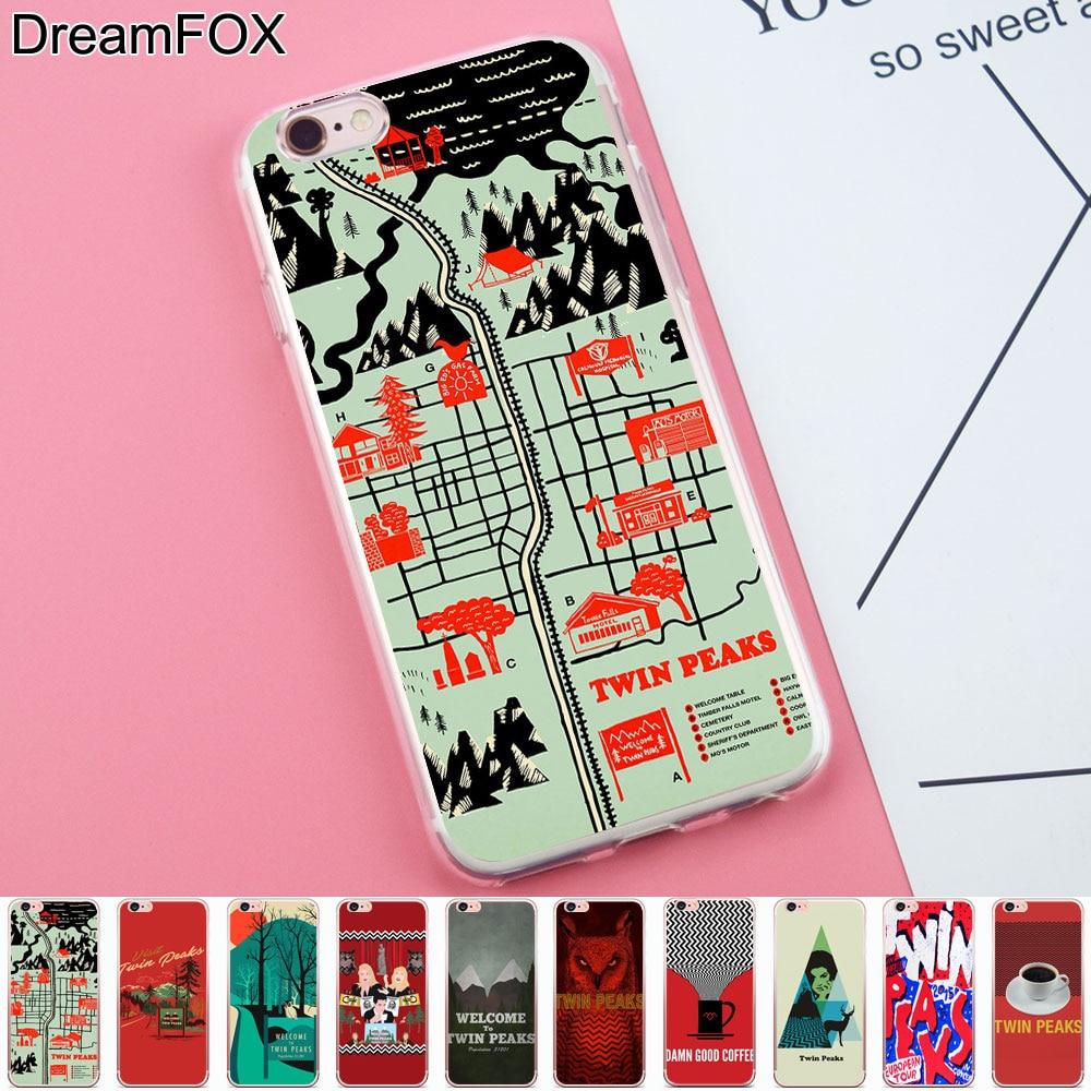 Dreamfox K249 Твин Пикс Мягкие TPU силиконовый чехол для Apple IPhone 8x7 6 6 S плюс 5 5S SE 5C 4 4S ...