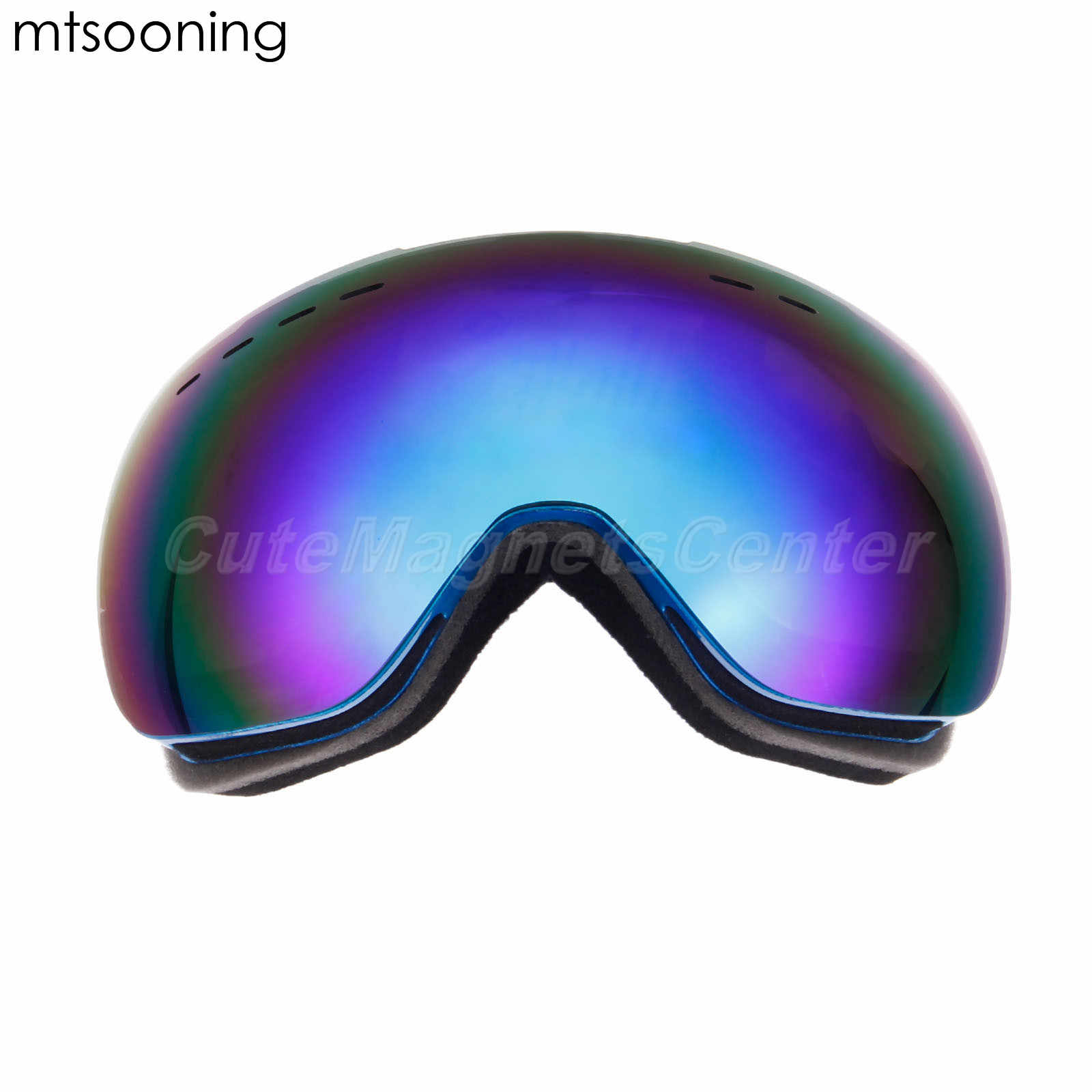 Mtsooning Kacamata Ski Pria Wanita Snowboard Kacamata Kacamata untuk Ski UV400 Perlindungan Ski Salju Kacamata Anti-Kabut Topeng Ski