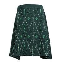 GRUIICEEN women embroidery mini skirt 2018 summer fashion A line short skirt high waist korean skirt