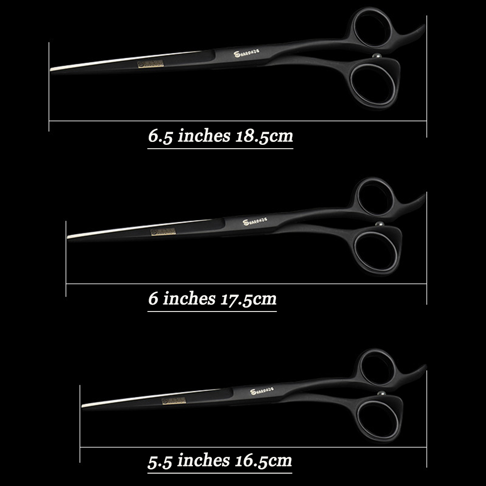 Купить с кэшбэком High Quality 3 Size 5.5 / 6.0 / 6.5 inch Professional Hairdressing Scissors  Flat Blade Hair Scissors for Hairdressing Salon