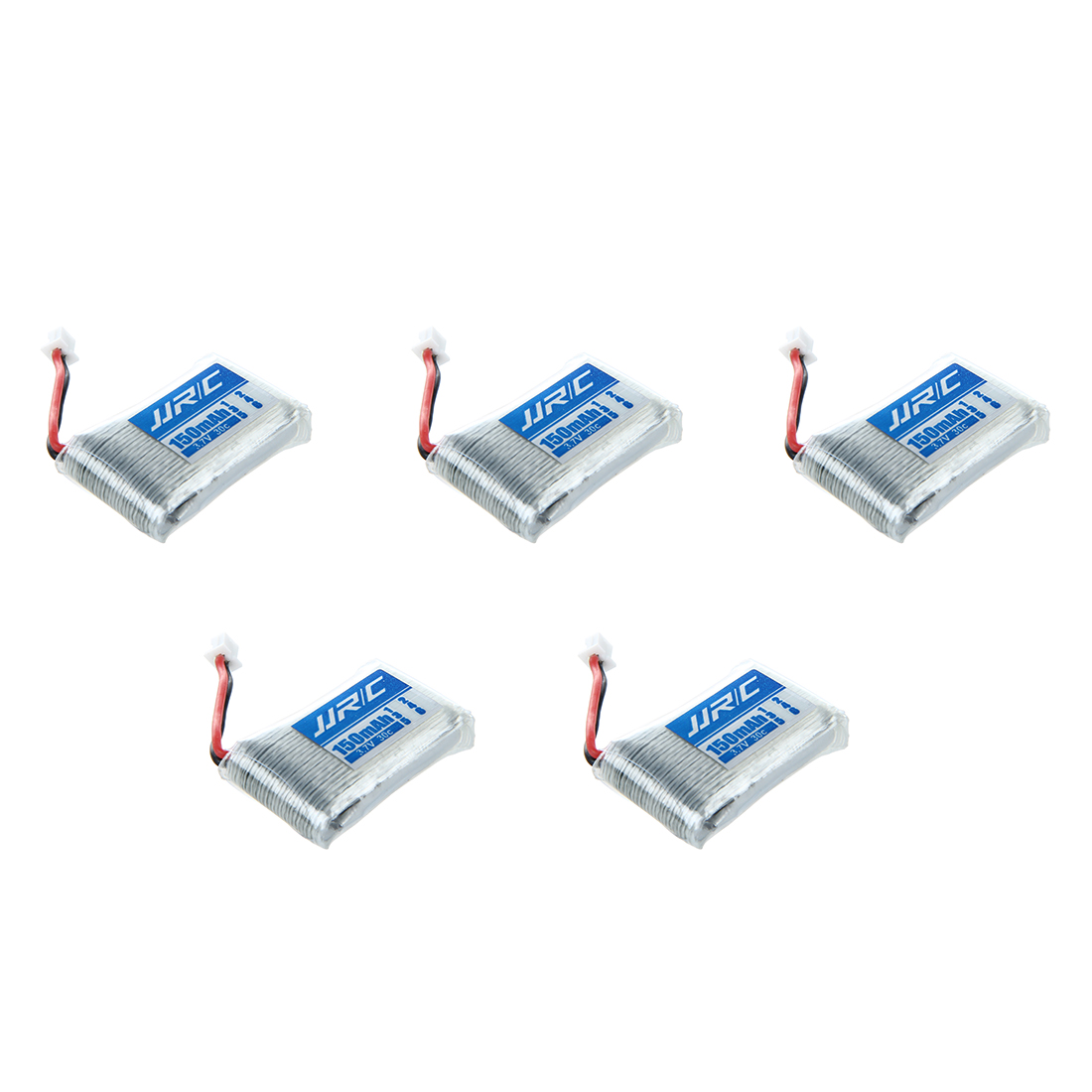 5 x 3.7V 150mAh 30C Battery +1 x Charger USB Cable Set