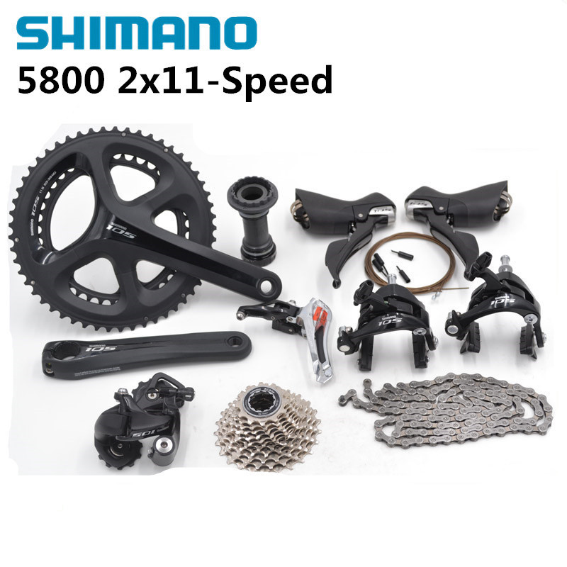 Shimano 105 5800 2x11S 22S Speed 50/34 53/39 170mm 175mm Groupset Kit for Road Bike Bicycle цены