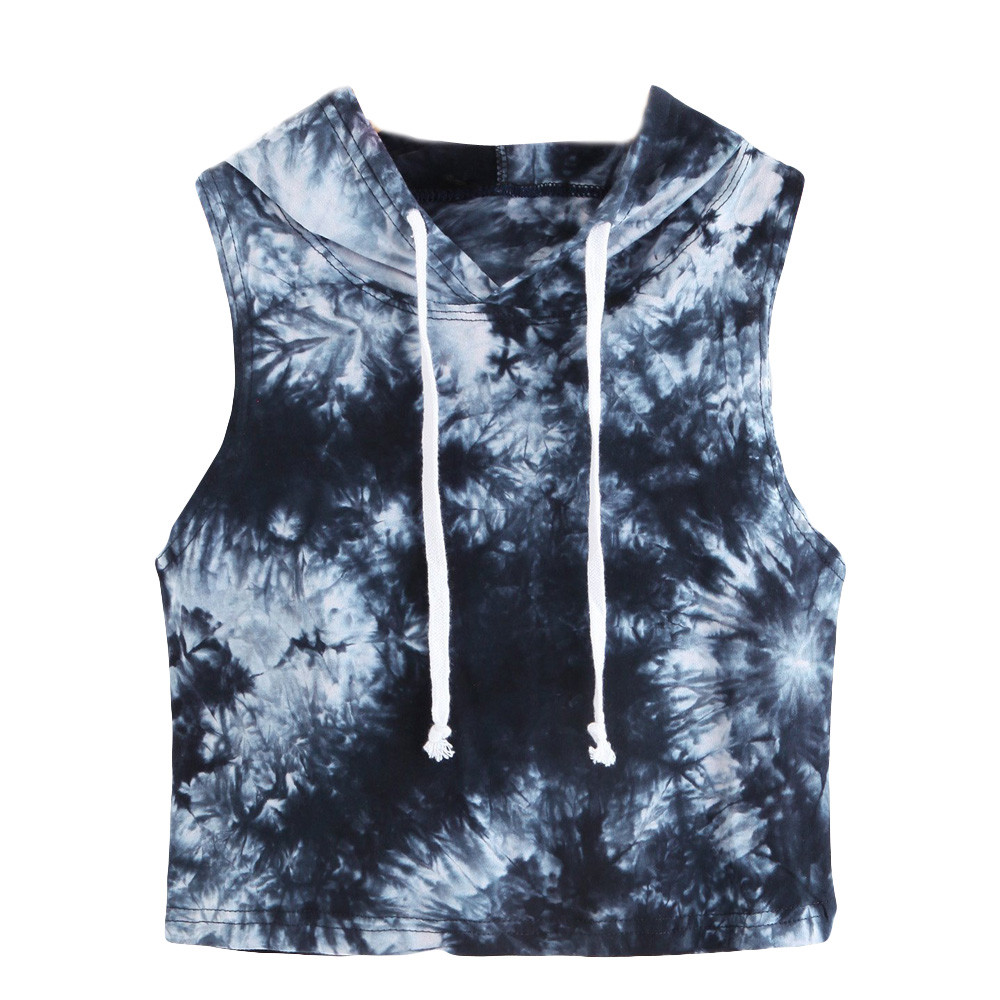 126e70243 Detail Feedback Questions about Feitong Summer tops women 2018 Fashion  Casual Sexy Top Tees Flora Print Hooded Sleeveless Shirt Tops camisetas  mujer verano ...