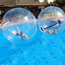1.8m Water Rollers Inflatable Walking on Water Ball for Swimming Pool Floating Human Inside Dacing Balloon Running Zorb Balls(China)