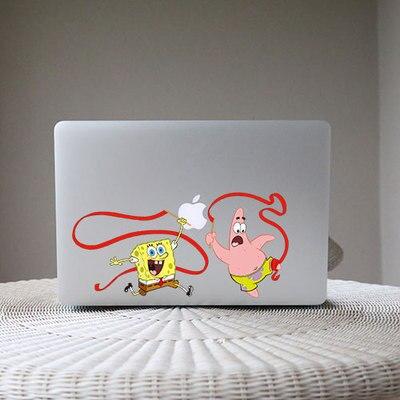 CJ Cartoon Funny SpongeBob Patrick Dancing Decal Laptop - Spongebob macbook decal
