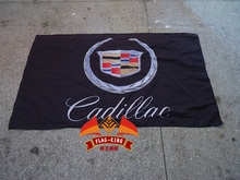 Cadillac racing club car polyster Cadillac black baner flag king flag 90 150CM polyster