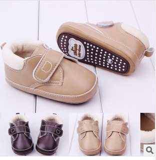 Hot Sale 1pair PU leather Baby First Walkers Ankle Soft Shoes, toddlers/Newborn Pre-walker, BOY/Girl Indoor shoes